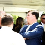 Congressman Rokita took time to visit with constituents following the ribbon-cutting ceremony.