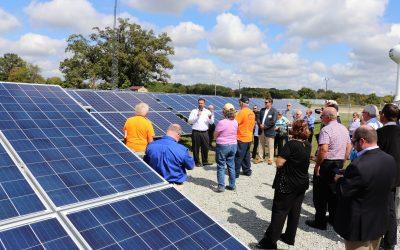 Solar array tour in Peru, Ind.