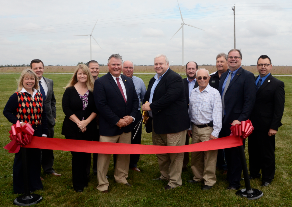 WVPA staff members at the Meadow Lake Wind Farm Phase V ribbon cutting.